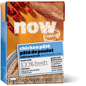 Now! Fresh Grain Free Tetra Pak Cat Chicken Pate  Canned Cat Food - PetMax
