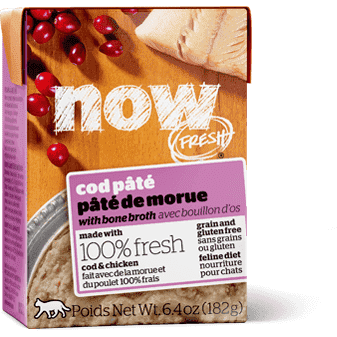 Now! Fresh Grain Free Tetra Pak Cat Cod Pate  Canned Cat Food - PetMax
