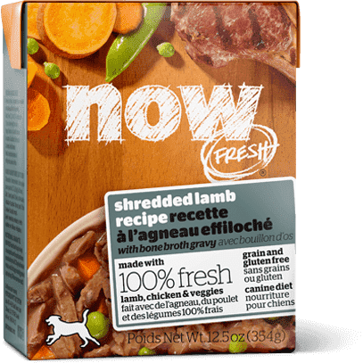 Now! Fresh Grain Free Tetra Pak Dog Shredded Lamb  Canned Dog Food - PetMax