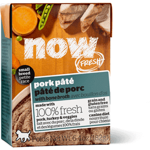 Now! Fresh Grain Free Tetra Pak Dog Small Breed Pork Pate  Canned Dog Food - PetMax