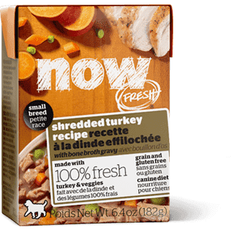 Now! Fresh Grain Free Tetra Pak Dog Small Breed Shredded Turkey  Canned Dog Food - PetMax