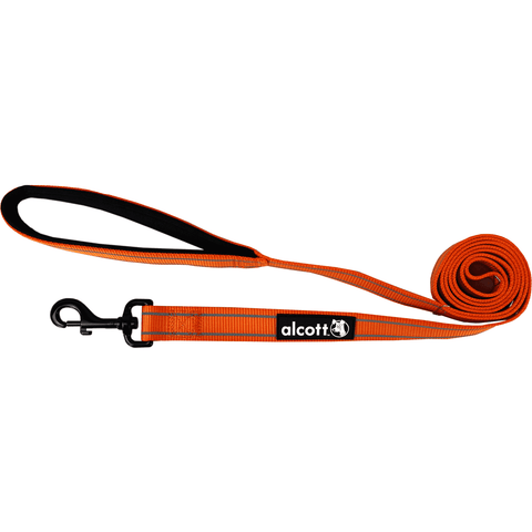 Alcott Adventure Leash Neon Orange, Leashes, Alcott - PetMax