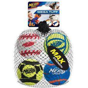 Nerf Dog Toy Tough Sports Balls  Dog Toys - PetMax