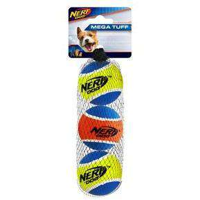 Nerf Dog Toy Mega Strength Balls Small - 3 Pack Dog Toys - PetMax