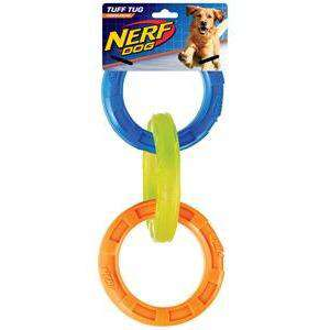 Nerf Dog Toy TPR 3-Ring Tug  Dog Toys - PetMax