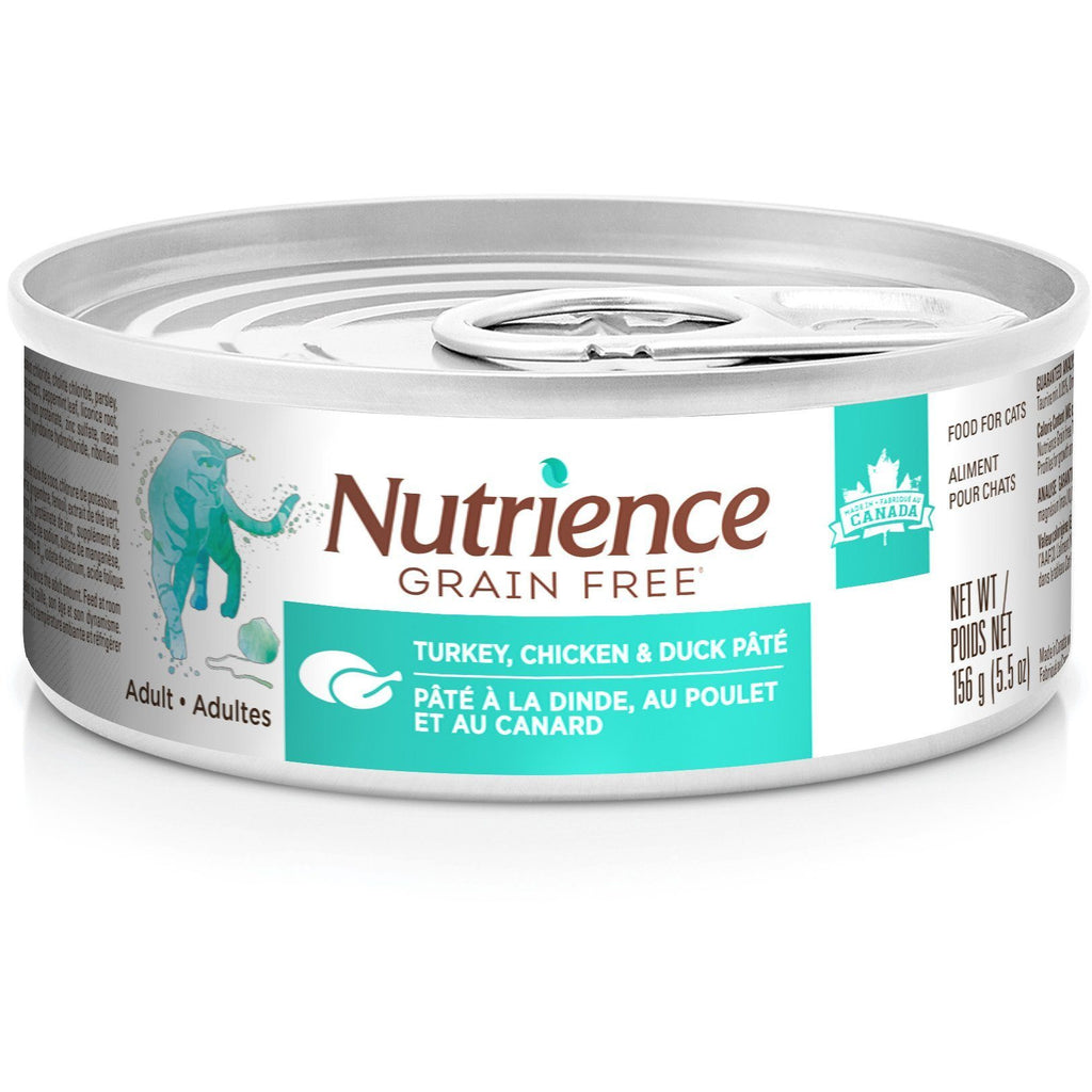 Nutrience Grain Free Canned Wet Cat Food Turkey, Chicken & Duck Pâté for Indoor Cats  Cat Canned Food - PetMax