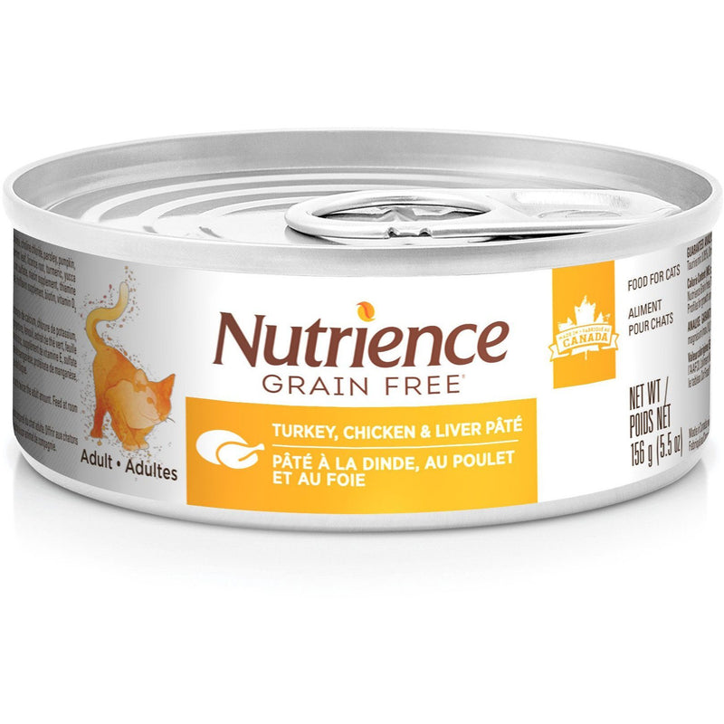 Nutrience Grain Free Canned Wet Cat Food Turkey, Chicken & Liver Pâté  Cat Canned Food - PetMax