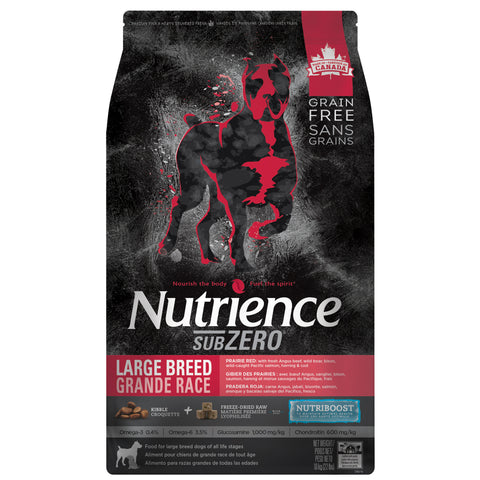 Nutrience Grain Free Dog Food Large Breed Sub Zero Prairie Red, Dog Food, Nutrience Pet Food - PetMax Canada