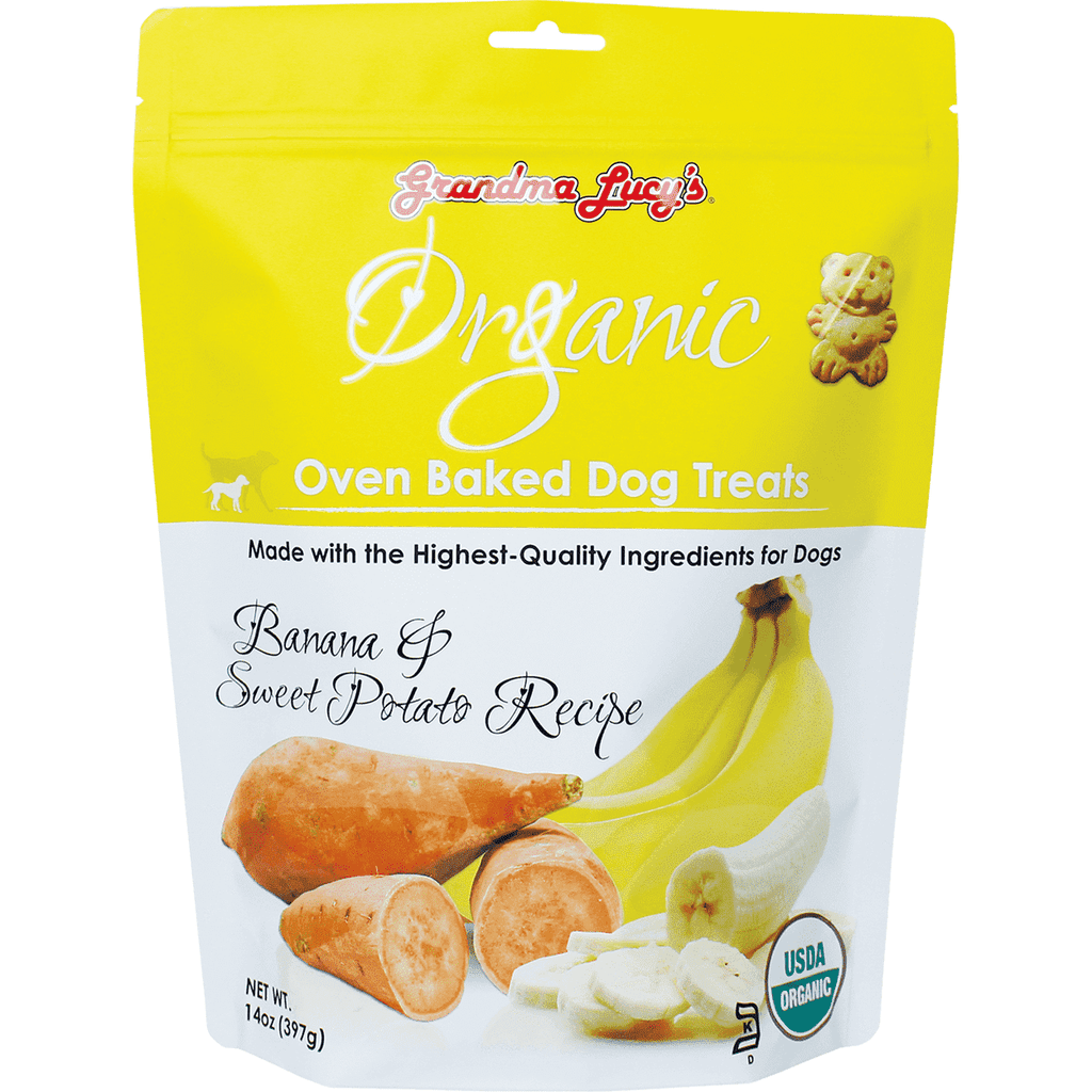 Grandma Lucy's Organic Baked Banana & Sweet Potato Treats | Dog Treats -  pet-max.myshopify.com
