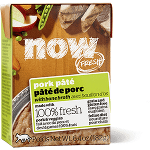 Now! Fresh Grain Free Tetra Pak Cat Pork Pate  Canned Cat Food - PetMax