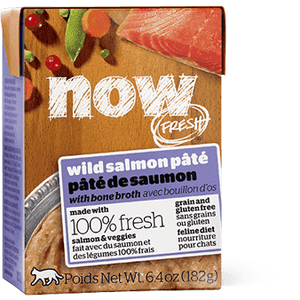 Now! Fresh Grain Free Tetra Pak Cat Wild Salmon Pate  Canned Cat Food - PetMax
