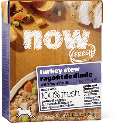Now! Fresh Grain Free Tetra Pak Dog Turkey Stew  Canned Dog Food - PetMax