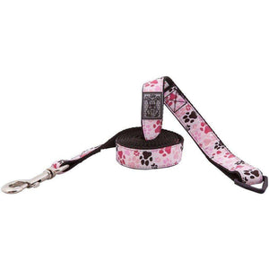 RC Dog Leash Pattern Pink Paws, Leashes, Spring Collection - PetMax Canada