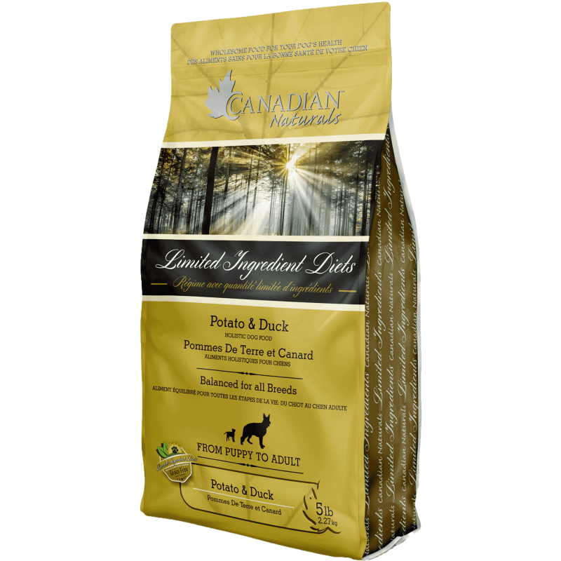 Canadian Naturals L.I.D. Potato & Duck  Dog Food - PetMax