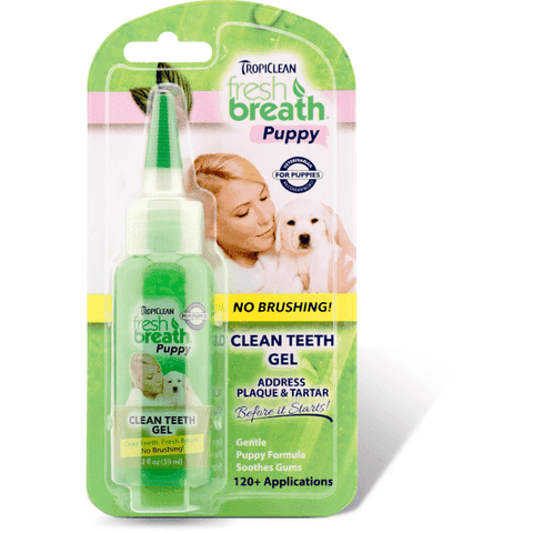 Tropiclean Fresh Breath Clean Teeth Gel Puppy, Health Care, Tropiclean - PetMax