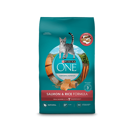 Purina ONE Cat Food Adult Salmon & Rice  Dry Cat Food - PetMax