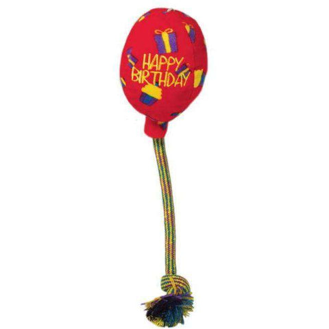 Kong Dog Toy Birthday Balloon Red