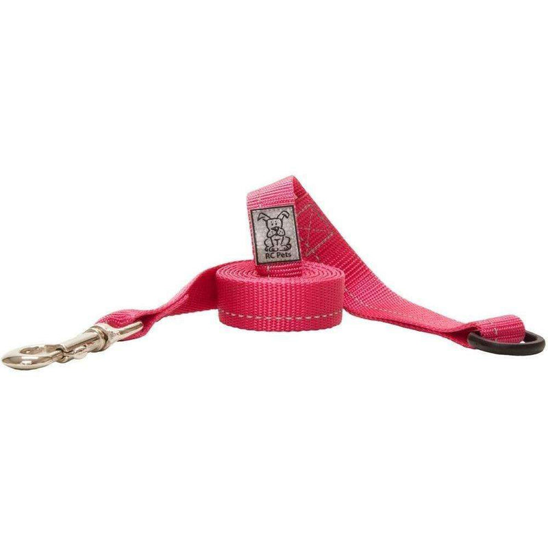 RC Dog Leash With Primary Colour Pink 1 inch X 6 feet / Pink Leashes - PetMax