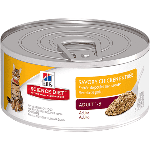 Science Diet Canned Cat Food Adult Chicken, Canned Cat Food, Hills Pet Nutrition Canada Inc. - PetMax Canada