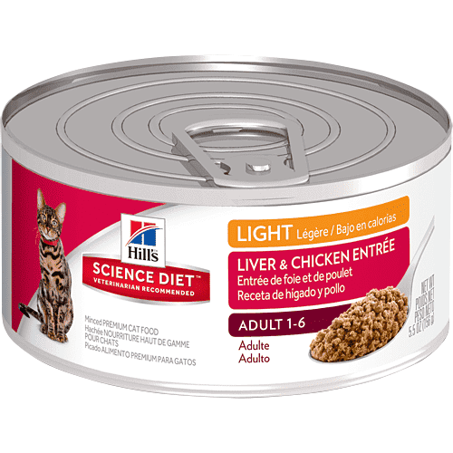 Hill's Science Diet Adult Light Liver & Chicken Canned Cat Food  Canned Cat Food - PetMax