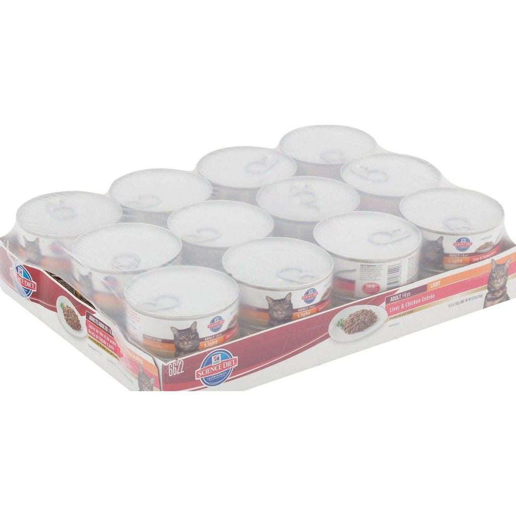 Hill's Science Diet Adult Light Liver & Chicken Canned Cat Food - Case of 24 Canned Cat Food [variant_title] [option1] - PetMax.ca