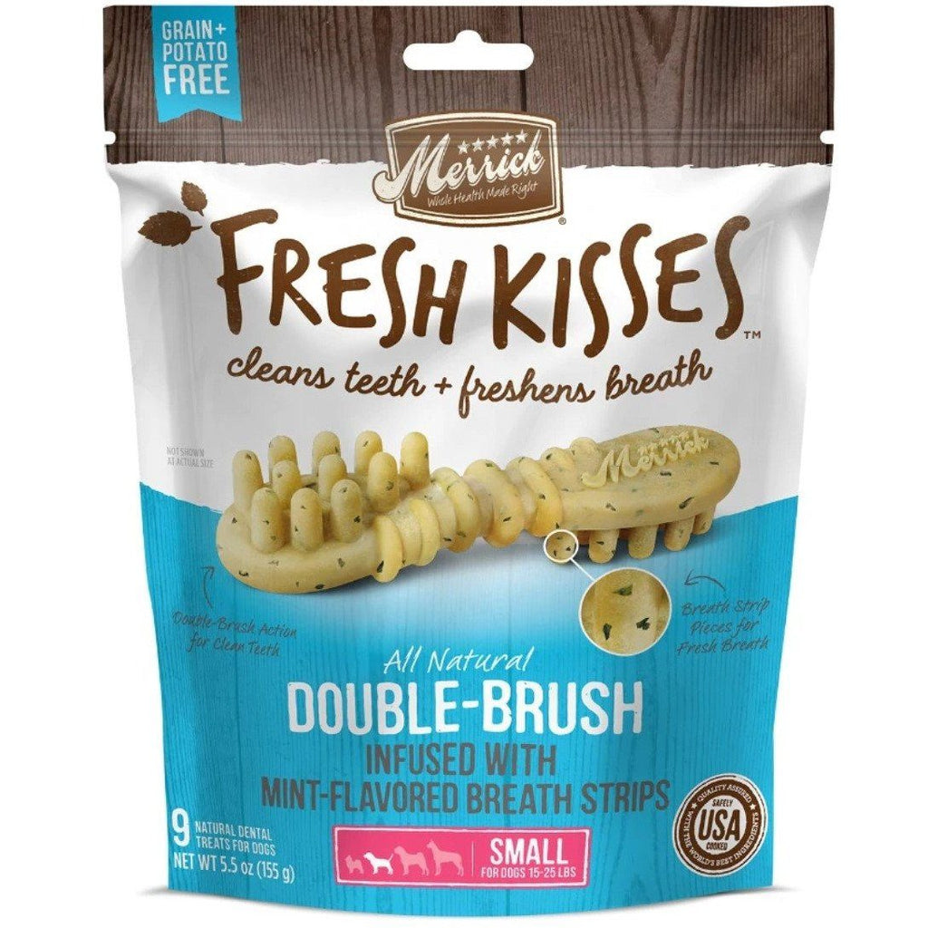 Merrick Fresh Kisses Mint Brush - Bag Small Dog Treats - PetMax