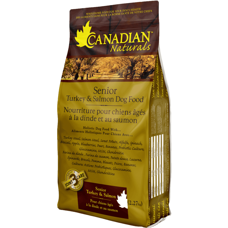 Canadian Naturals Senior Turkey & Salmon  Dog Food - PetMax