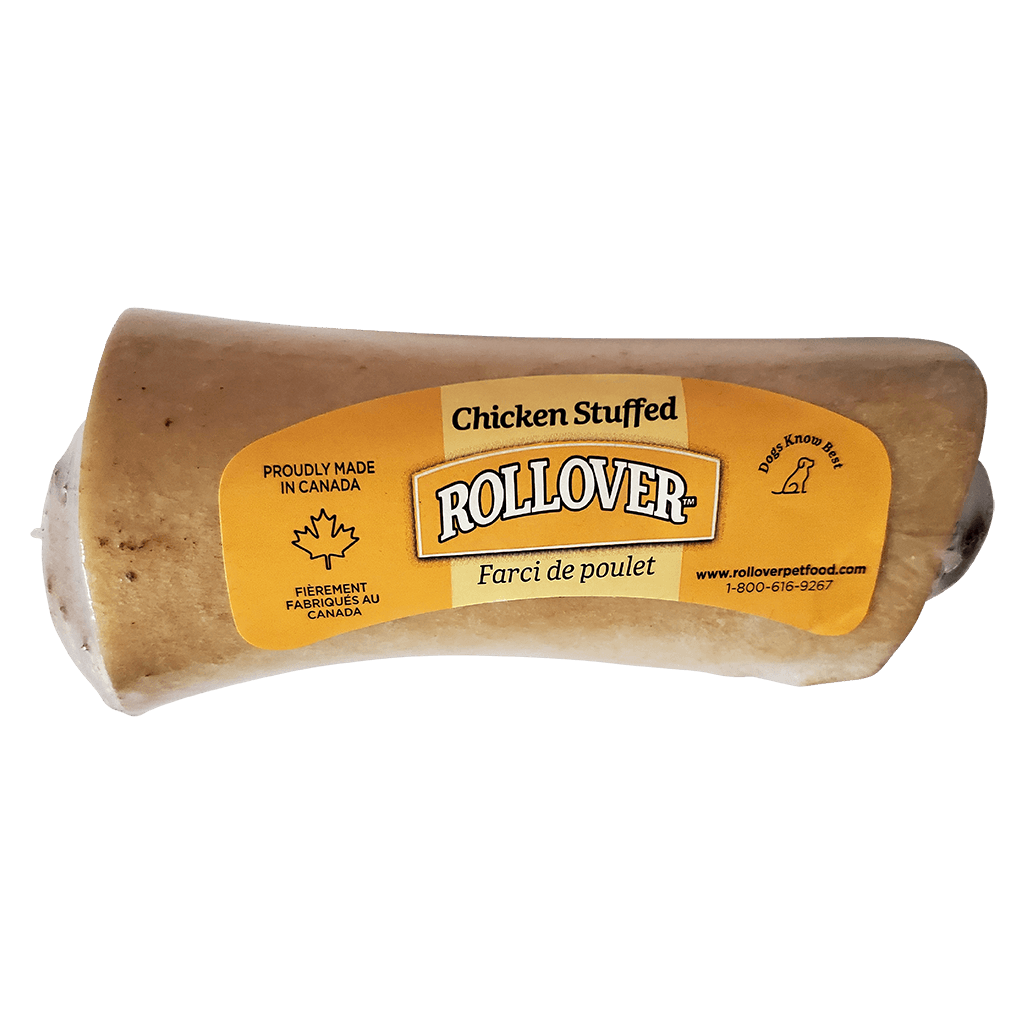 Rollover Stuffed Dog Bone Chicken Small Chew Products - PetMax
