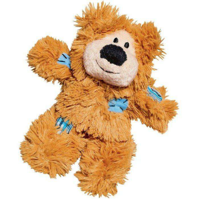 Kong Cat Softies Patchwork Bear Brown Cat Toys - PetMax
