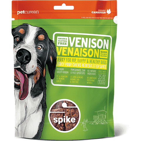 Spike Dog Treats - Venison Jerky, Dog Treats, Petcurean - PetMax Canada