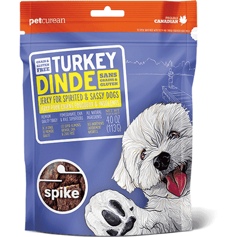 Spike Dog Treats - Turkey Jerky, Dog Treats, Petcurean - PetMax Canada