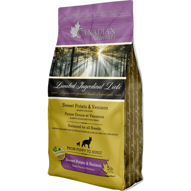 Canadian Naturals L.I.D. Potato & Venison  Dog Food - PetMax