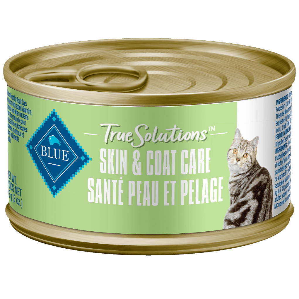 Blue True Solutions Canned Cat Food Skin & Coat Care 85g 85g | Canned Cat Food Blue Buffalo -  PetMax.ca