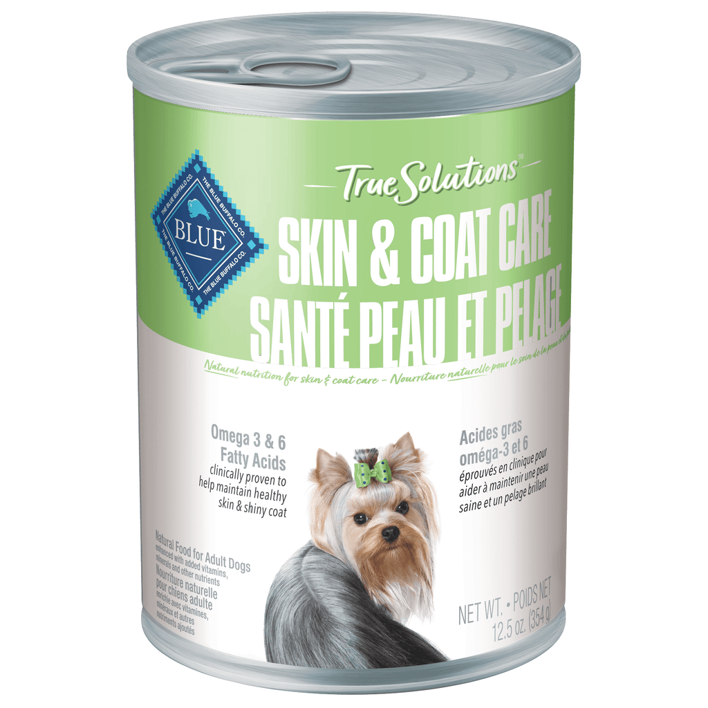 Blue True Solutions Canned Dog Food Skin & Coat Care 354g 354g | Canned Dog Food Blue Buffalo -  PetMax.ca