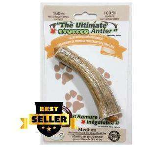 Ultimate Chew Elk Antler Stuffed With Himalayan Cheese, Chew Products, Rolf C Hagen Inc. - PetMax Canada