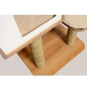 Vesper Cat Furniture V-High Base Walnut, Cat Scratching Posts, Rolf C Hagen Inc. - PetMax Canada
