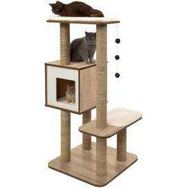 Vesper Cat Furniture V-High Base Oak Cat Scratching Posts [variant_title] [option1] - PetMax.ca