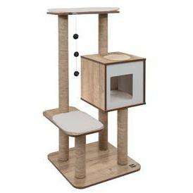 Vesper Cat Furniture V-High Base Oak  Cat Scratching Posts - PetMax