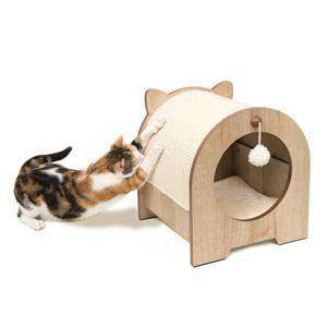 Vesper Cat Furniture Minou Bench Scratcher, Cat Scratching Posts, Rolf C. Hagen Inc. - PetMax Canada