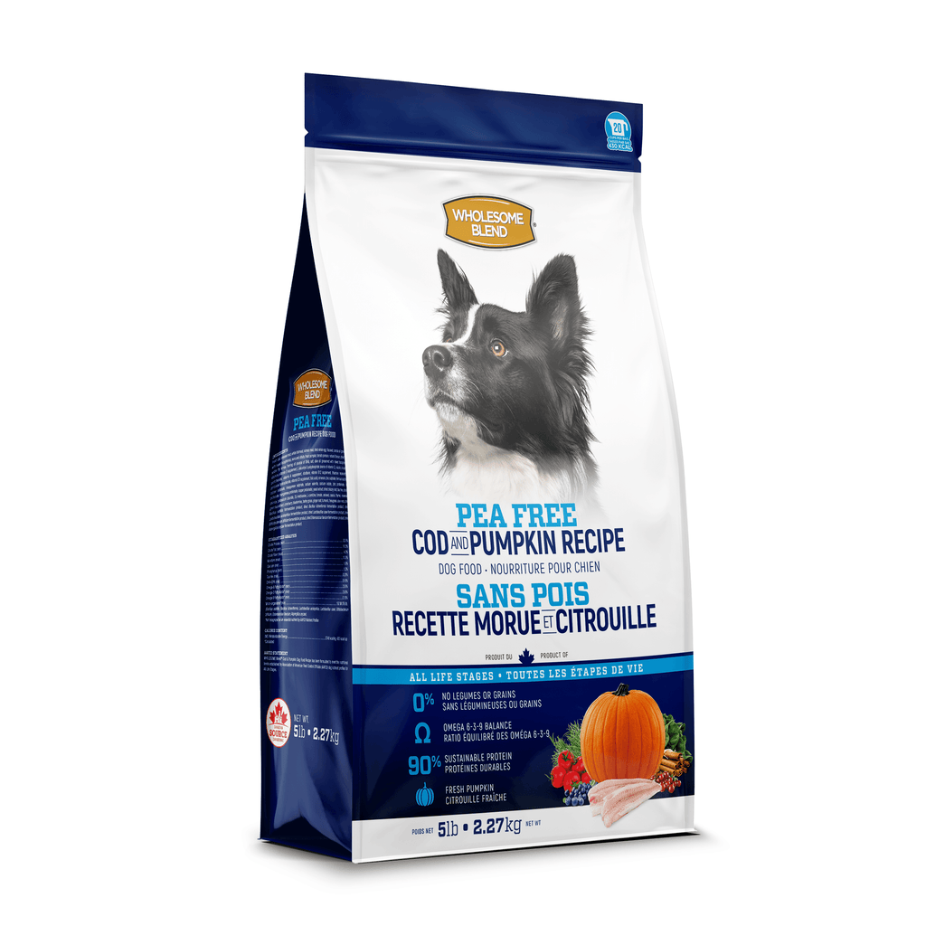 Wholesome Blend All Life Stages Pea Free Cod & Pumpkin Dog Food  Dog Food - PetMax