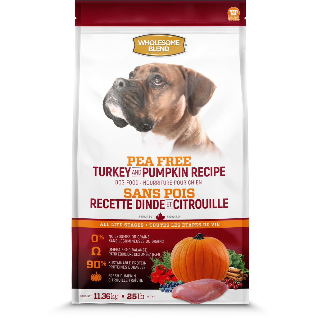Wholesome Blend All Life Stages Pea Free Turkey & Pumpkin Dog Food  Dog Food - PetMax