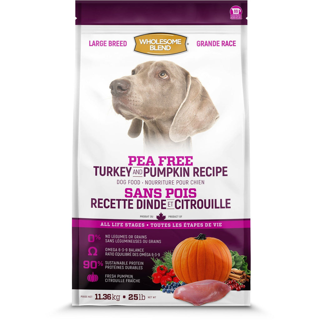 Wholesome Blend All Life Stages Pea Free Turkey & Pumpkin Large Breed Dog Food  Dog Food - PetMax