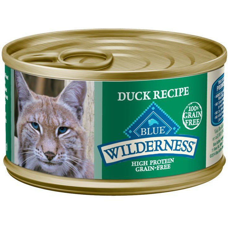 Blue Buffalo Wilderness Canned Cat Food Duck  Canned Cat Food - PetMax