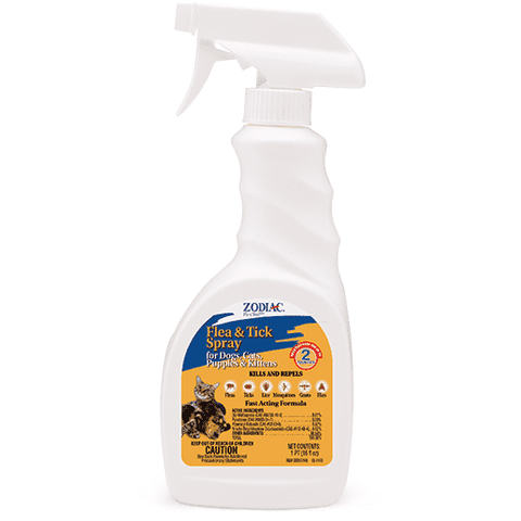 Zodiac Cat & Kitten Flea & Tick Spray, Flea & Tick, Zodiac - PetMax