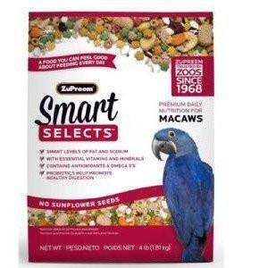 Zupreem Smart Selects Food Macaws, Bird Food, Zupreem Premium Nutritional Product - PetMax