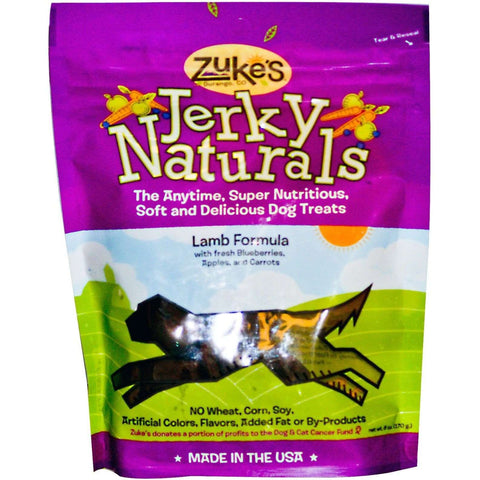 Zukes Dog Treats Jerky Naturals Lamb, Dog Treats, Miscellaneous - PetMax Canada