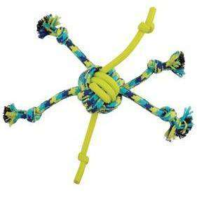 Zeus K9 Fitness Rope & TPR Spider Ball  Dog Toys - PetMax
