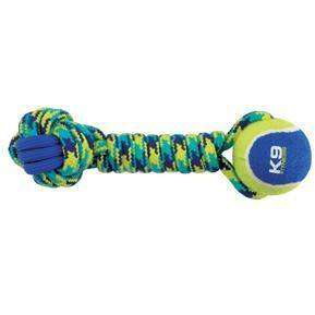 Zeus K9 Fitness Rope & TPR Tennis Dumbbell  Dog Toys - PetMax