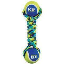 Zeus K9 Fitness Double Tennis Ball Rope Dumbbell  Dog Toys - PetMax