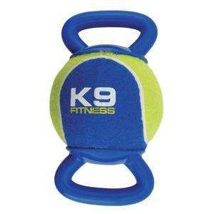 Zeus K9 Fitness Tennis & TPR Double Tug Ball XL  Dog Toys - PetMax